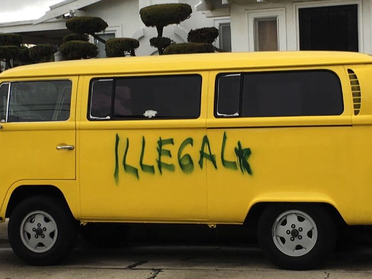 Joe Solis says the vandalising of his camper van brought his community together