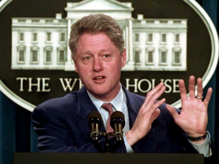 US President Bill Clinton in 1996