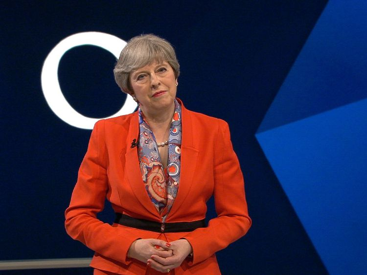 Theresa May is told by a questioner that she will 'believe it when I see it' on improvements to the NHS