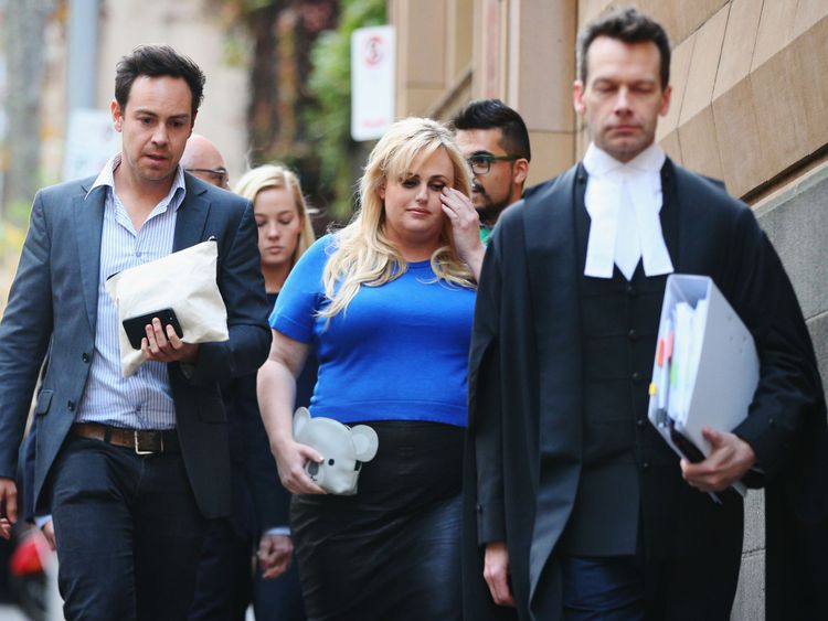 MELBOURNE, AUSTRALIA - MAY 24: Actor Rebel Wilson leaves the Melbourne Supreme Court on May 24, 2017 in Melbourne, Australia. Rebel Wilson is suing Bauer Media, the publisher of Women's Day, over a series of articles she alleges portrayed her as a serial liar and cost her movie roles in Hollywood. The trial before a jury is expected to last three weeks. (Photo by Michael Dodge/Getty Images)