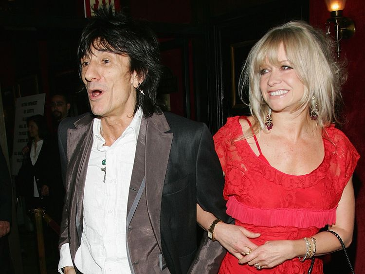 Jo Wood, wife of Rolling Stones star Ronnie Wood, was among the victims