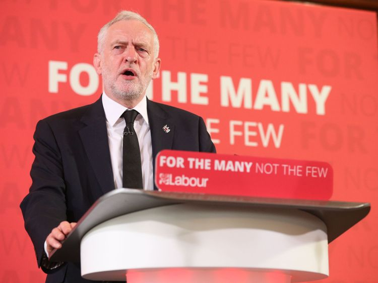 Corbyn: Labour won't hit £80000 earners with immediate income tax hike