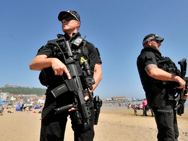 Armed police to guard bank holiday events