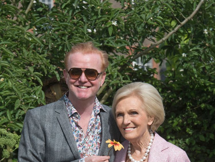 Chris Evans and Mary Berry attend the press preview of the RHS Chelsea Flower Show 2017