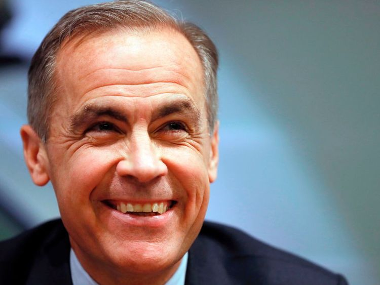 Mark Carney  plans to remain governor until June 2019