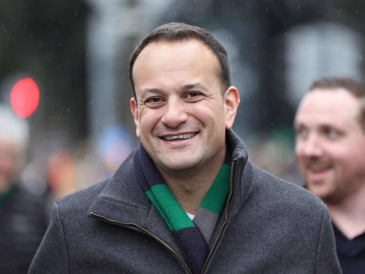 Minister for Social Protection Leo Varadkar arrives for the RBS 6 Nations match at the Aviva Stadium, Dublin.