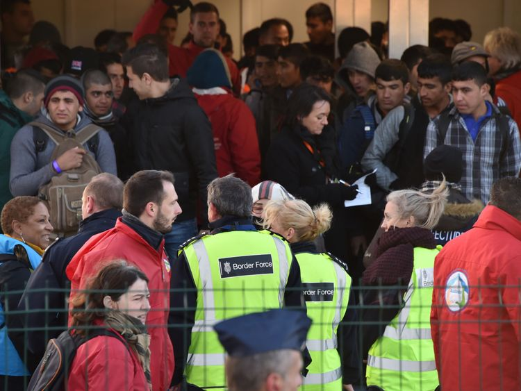 The UK Border Force helped supervise migrants when the 'Jungle' was closed