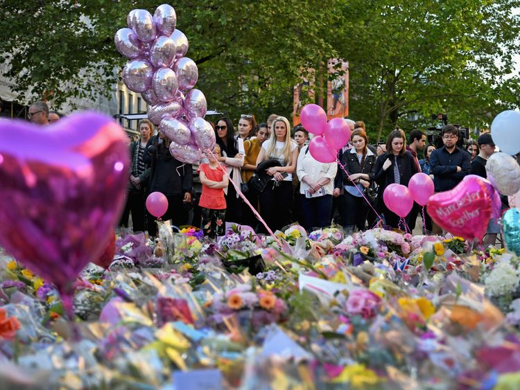 Tributes in memory of the Manchester victims
