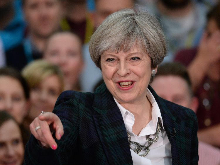 Mrs May will say she 'strives to be a leader worthy of our great nation'