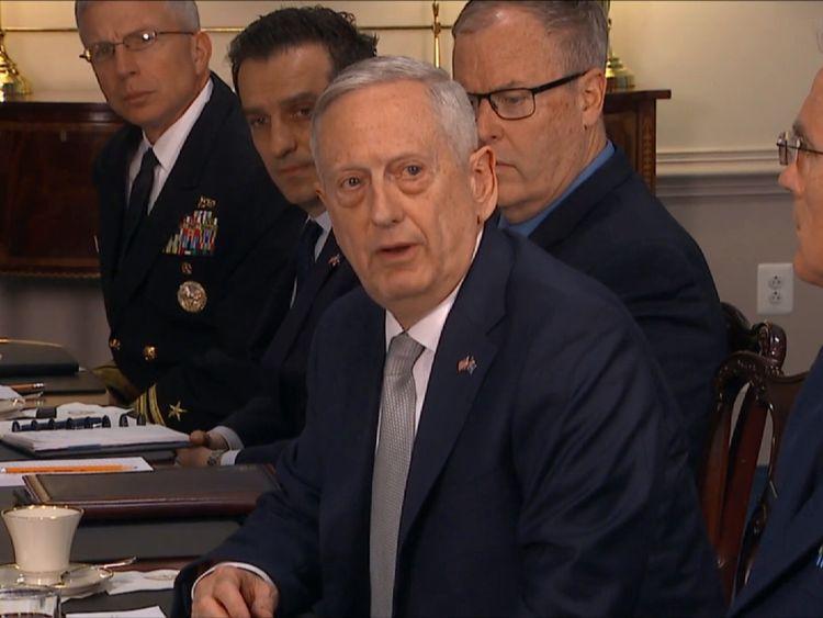 US defence secretary General James Mattis