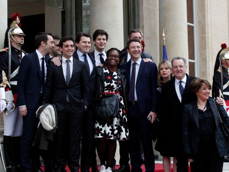 Macron's close team of the party's La Republique en Marche, some of whom may be expecting a job in his government