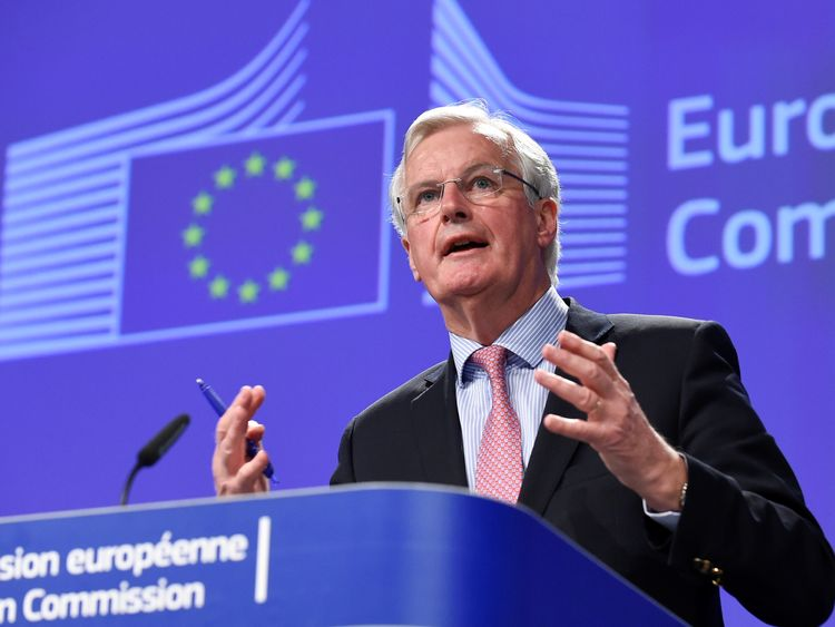 Barnier says EU will fight to avoid hard Ireland-UK border