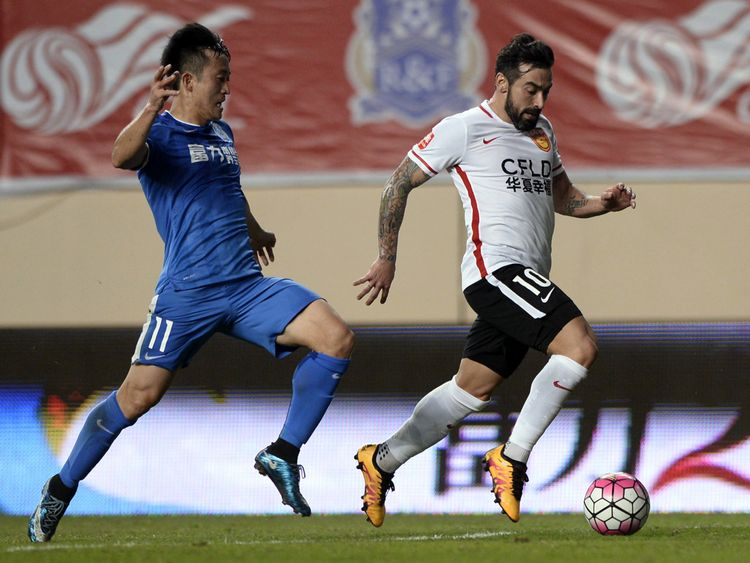 Hebei CF described Lavezzi as 'the next Maradona' when he signed for the club