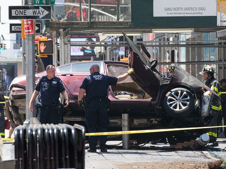 Times Square crash driver charged with murder