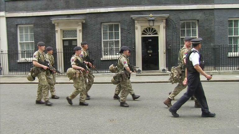 Soldiers in Downing Street