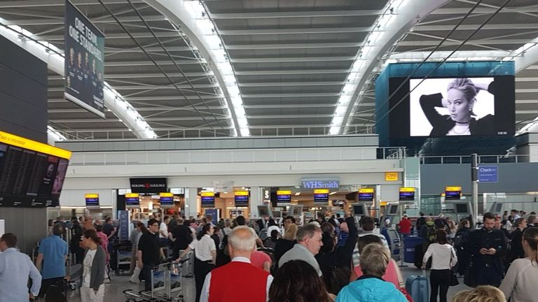 Heathrow Terminal 5 during the global system outage experienced by BA. Pic: IanJSmall