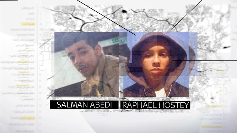 Salman Abedi and Raphael Hostey