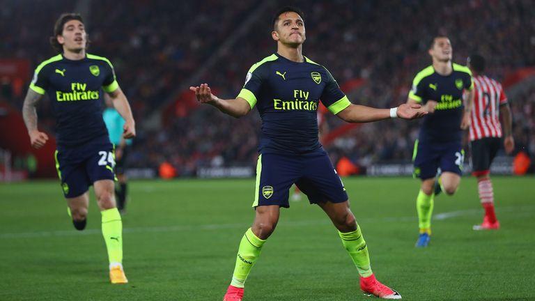 Southampton 0-2 Arsenal