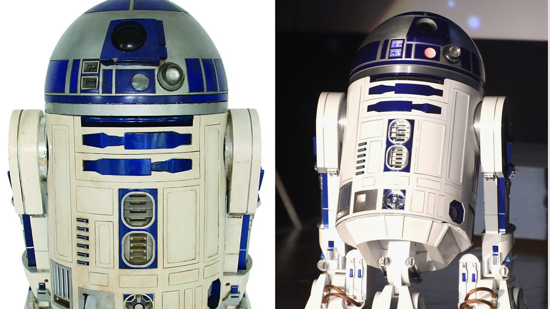Undated handout photo issued by Profiles In History of a complete R2-D2 made from pieces salvaged from the Star Wars films by a British enthusiast which has been sold for $2.76m
