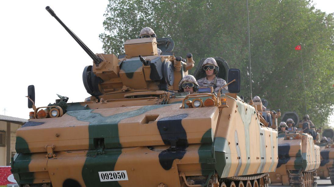Turkish troops