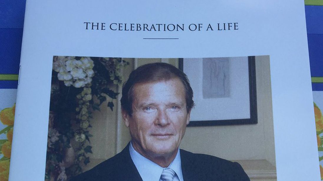 Friends and family celebrated the life of Sir Roger Moore at the 'beautiful service' in Monte Carlo