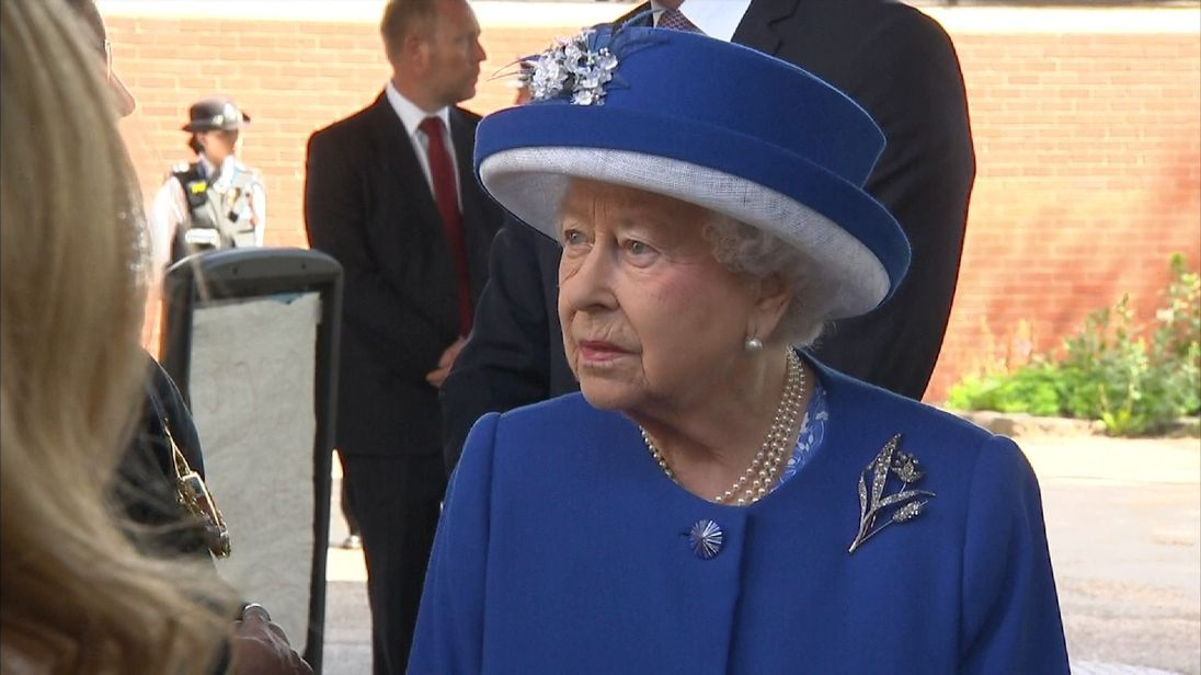 'Trooping the color' in London for queen's official birthday