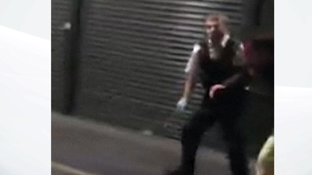 WARNING - GRAPHIC FOOTAGE: Video taken by a witness shows the scene inside Borough Market immediately after the attack