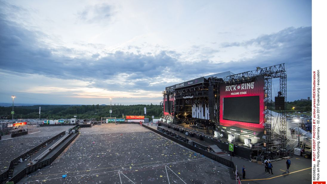 Germany's Rock am Ring festival is evacuated because of a terror threat