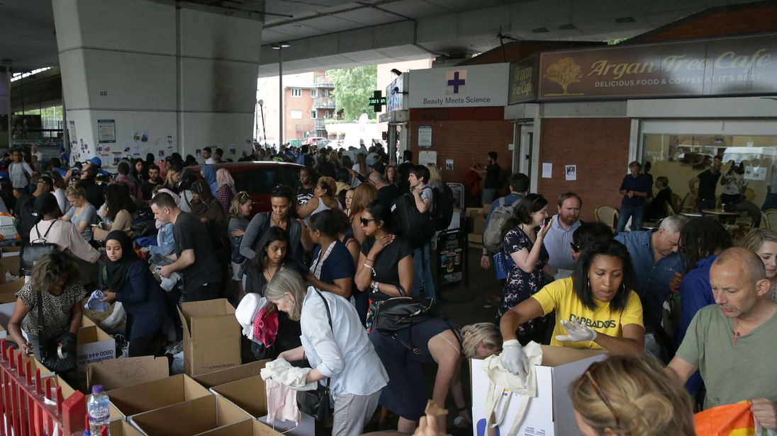 The donations of food and clothes have been flooding in