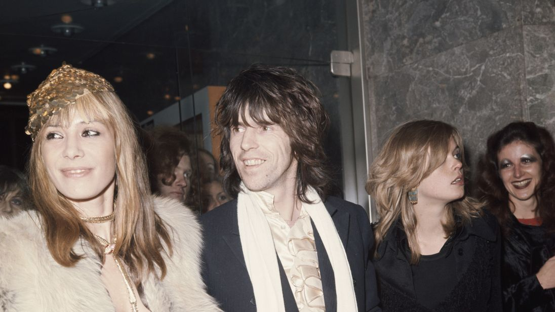 Pallenberg and Richards together at the Performace premier