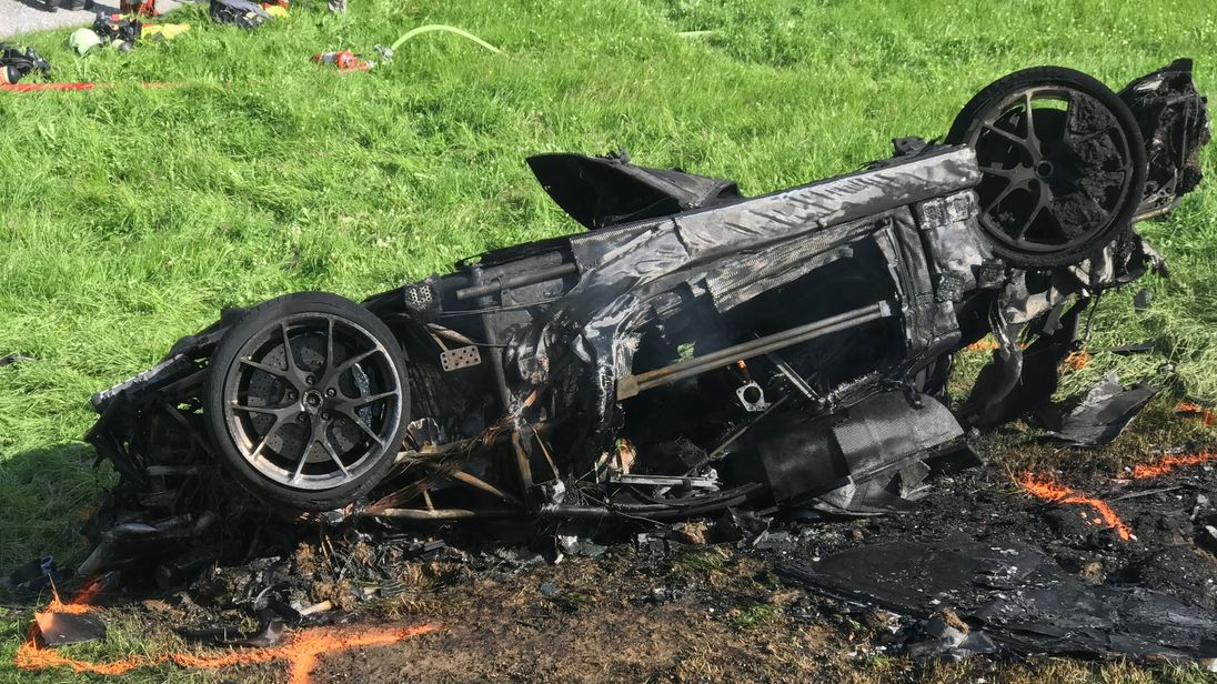Another close shave for Hammond as supercar crashes