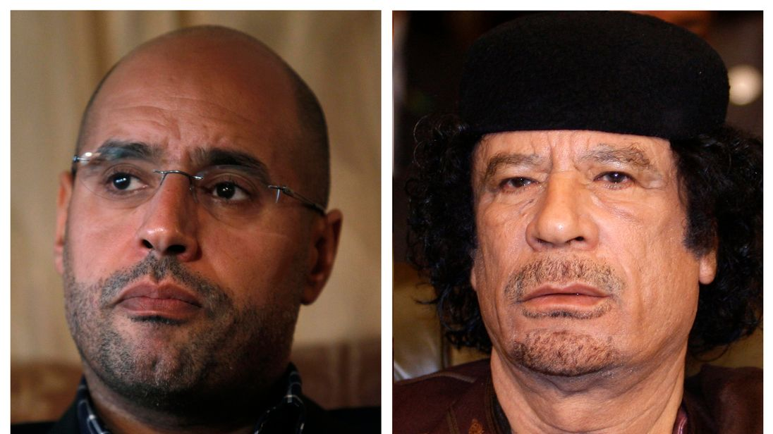 Colonel Gaddafi's son Saif al Islam was being held by rebels