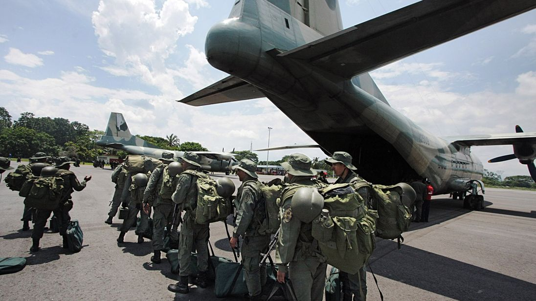 A Y-8F-100 plane used by Venezuelan troops. File-pic