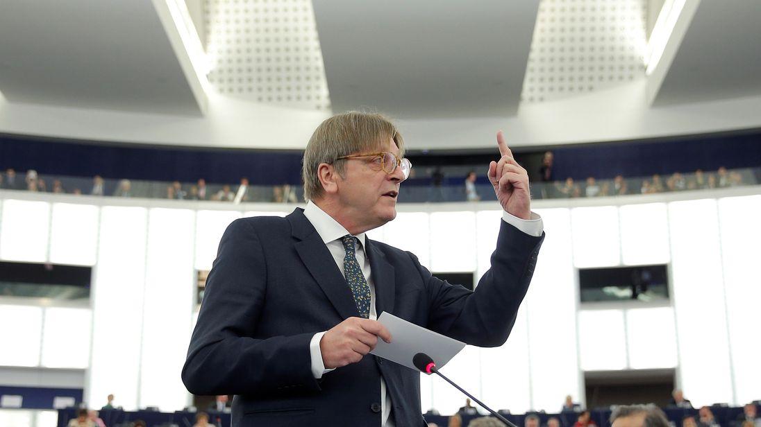 European Parliament's Brexit coordinator Guy Verhofstadt