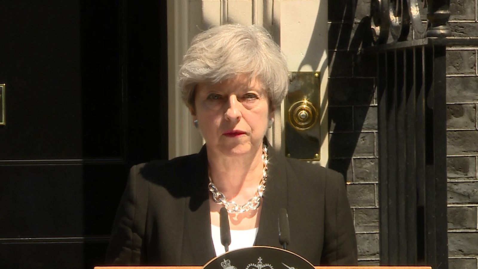 Theresa May delivers her response to the Finsbury Park attack