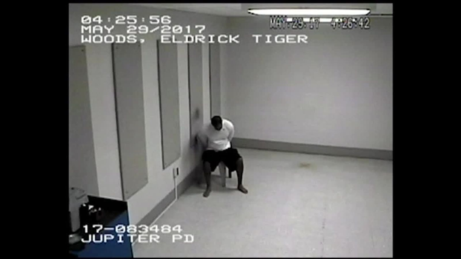 New video shows Tiger Woods at police station following DUI arrest