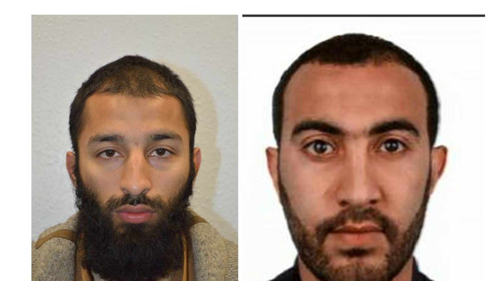 Khuram Butt (L) and Rachid Redouane (R) have been named by the Metropolitan Police
