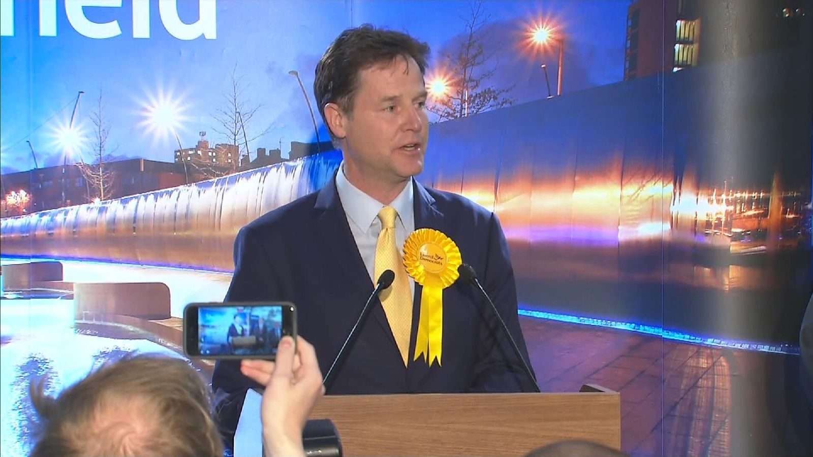 Nick Clegg after losing in Sheffield Hallam