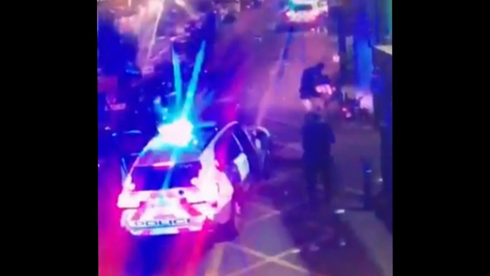 The moment police shot the terrorists at London Bridge