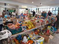 The Westway Trust holds a collection for Grenfell Tower residents Credit: Westway Trust
