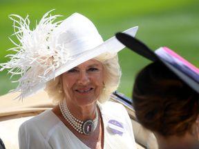 Camilla, Duchess of Cornwall arrives at Ascot