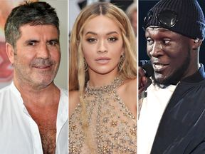 Simon Cowell, Rita Ora and Stormzy