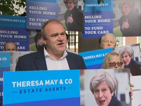Sir Ed Davey campaigns against Tory social care plans