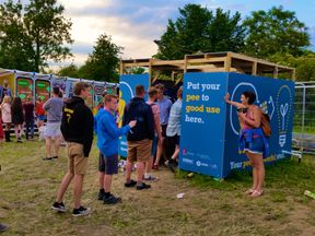 The 'Pee Power Project' is expected to handle up to 1,000 litres of urine a day. Pic: UWE Bristol