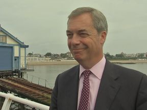 Nigel Farage speaks to Sky News in Ramsgate