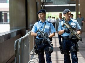 Armed police in Hong Kong