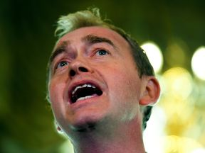 Liberal Democrats leader Tim Farron speaks after the election