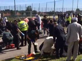 Emergency services tend to the injured