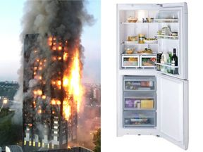 The devastating Grenfell Tower fire started in a Hotpoint fridge-freezer model like this one