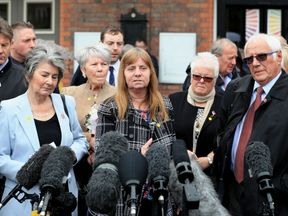The Hillsborough families make a statement after the CPS decision to charge six people